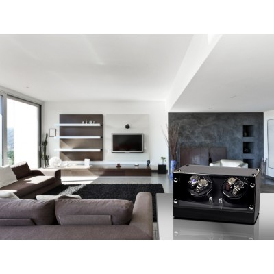 Кутия за навиване Rothenschild Bergamo за 4 часовника RS-2040-BK