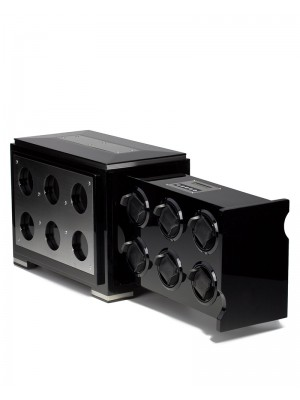 Кутия за навиване Rothenschild за 6 часовника RS-2077-BK