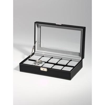 Кутия за съхранение Rothenschild RS-3360-10BL за 10 часовника кварцови