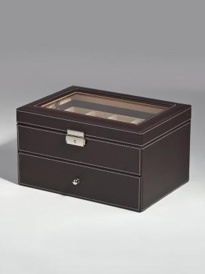 Кутия за съхранение Rothenschild RS-1683-20DBR за 20 часовника