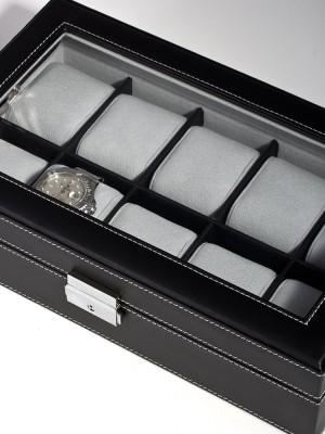 Кутия за съхранение Rothenschild RS-3360-10BL за 10 часовника