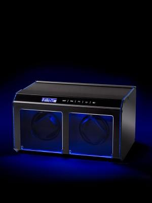 Кутия за навиване Rothenschild Evo-Touch RS-EVO-II-BK за 2 часовника