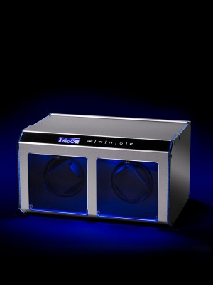 Кутия за навиване Rothenschild Evo-Touch RS-EVO-II-SV за 2 часовника