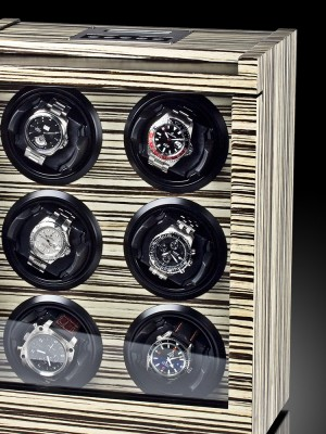 Кутия за навиване Rothenschild Trieste RS-2043-ZBR за 6 часовника