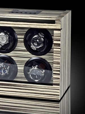 Кутия за навиване Rothenschild Trieste RS-2303-ZBR за 4 часовника