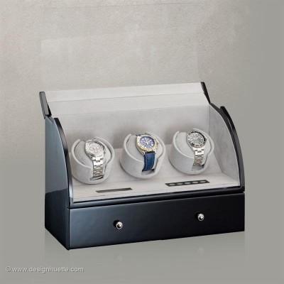 Кутия за навиване на часовници Designhuette Basel 3 - черно