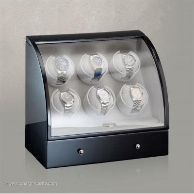 Кутия за навиване на часовници Designhuette  Basel 6 - черно