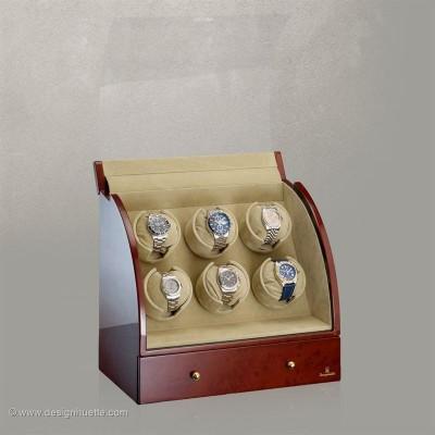 Кутия за навиване на часовници Designhuette Basel 6 - махагон