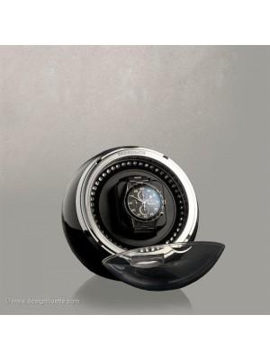 Кутия за навиване на часовници  Designhuette Crystal-черна/ Син ЛЕД