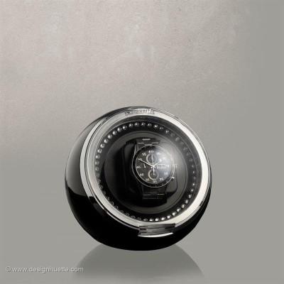 Кутия за навиване на часовници Designhuette Crystal-черна/ ЛЕД