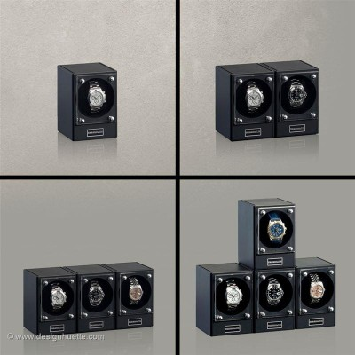 Кутия за навиване на часовници Designhuette  Piccolo - черна