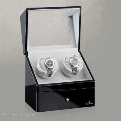 Кутия за навиване на часовници Designhuette San Diego 2 - черно