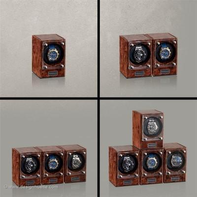 Кутия за навиване на часовници Designhuette Piccolo Стартет Сет - махагон