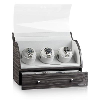 Кутия за навиване Designhütte Basel 3 Dark Oak 70005-35
