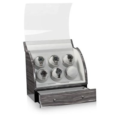 Кутия за навиване Designhütte Basel 6 Dark Oak 70005-34