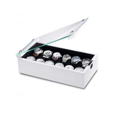Кутия за съхранение Rothenschild Chicago RS-5072-WHI за 12 часовника