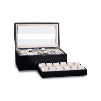 Кутия за съхранение Rothenschild Exclusive Line RS-5038-BK за 24 часовника