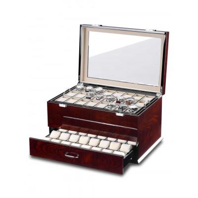 Кутия за съхранение Rothenschild Exclusive Line RS-5073-BLW за 72 часовника