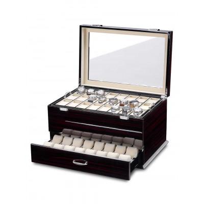 Кутия за съхранение Rothenschild Exclusive Line RS-5073-MCS за 72 часовника