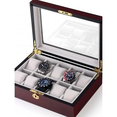 Кутия за съхранение Rothenschild RS-1087-10C за 10 часовника