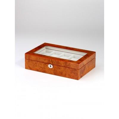 Кутия за съхранение Rothenschild RS-2264-10-BRW за 10 часовника
