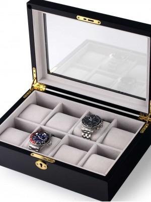 Кутия за съхранение Rothenschild RS-2105-8BL за 8 часовника