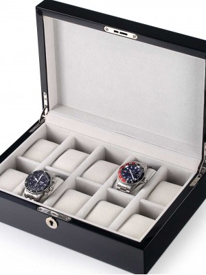 Кутия за съхранение Rothenschild RS-2265-10BL за 10 часовника