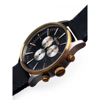 Мъжки часовник Nixon Sentry Chrono Leather A405-1922