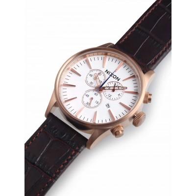 Мъжки часовник Nixon Sentry Chrono Leather A405-2459
