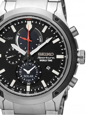 Мъжки часовник Seiko Sportura SSC479P1 World-Time