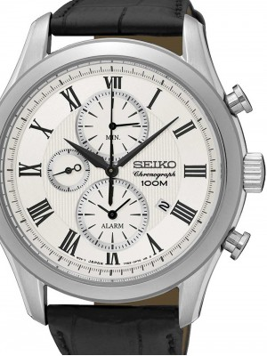 Мъжки часовник Seiko Chronograph SNAF69P1 Alarm