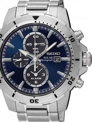 Мъжки часовник Seiko Solar SSC555P1 Alarm-Chrono