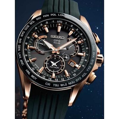 Мъжки часовник Seiko Astron SSE055J1 GPS Solar Dual-Time