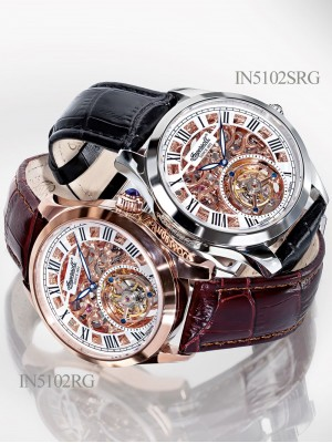 Мъжки часовник Ingersoll Golden Spike IN5102SRG Tourbillon