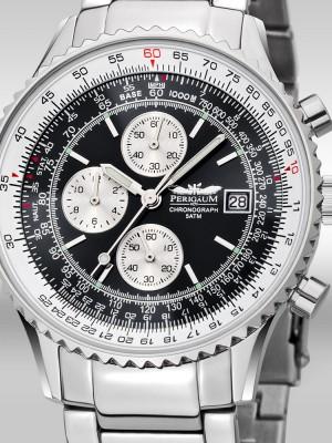 Мъжки часовник Perigaum Flightmaster P-1310-ASBK-BRC