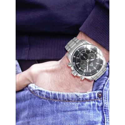 Мъжки часовник Rothenschild Steam RS-1403-AS-BK