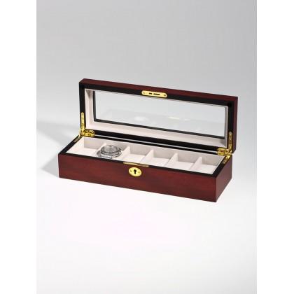 Кутия за съхранение Rothenschild RS-1087-6C за 6 часовника кварцови