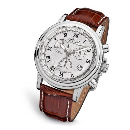 Мъжки часовник Bossart BW-1201-WAS-BrLe С Дата